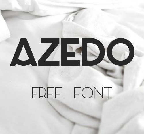 Azedo free font family download