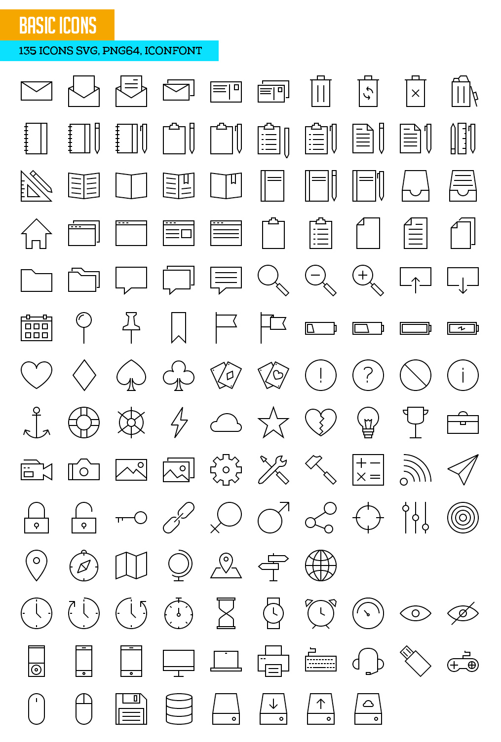 Download 730+ Free Outline Icons Set for Designers | Icons ...