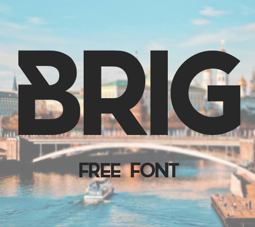 Brig free font family download