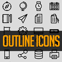 Post Thumbnail of 730+ Free Outline Icons Set for Designers