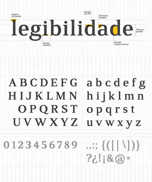 Rabiola free font letters