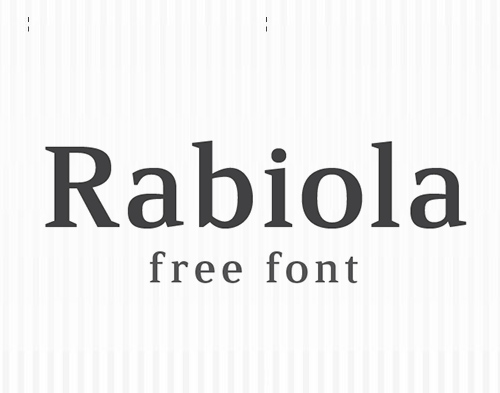 Rabiola free font family download