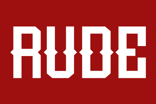 Rude free font family download