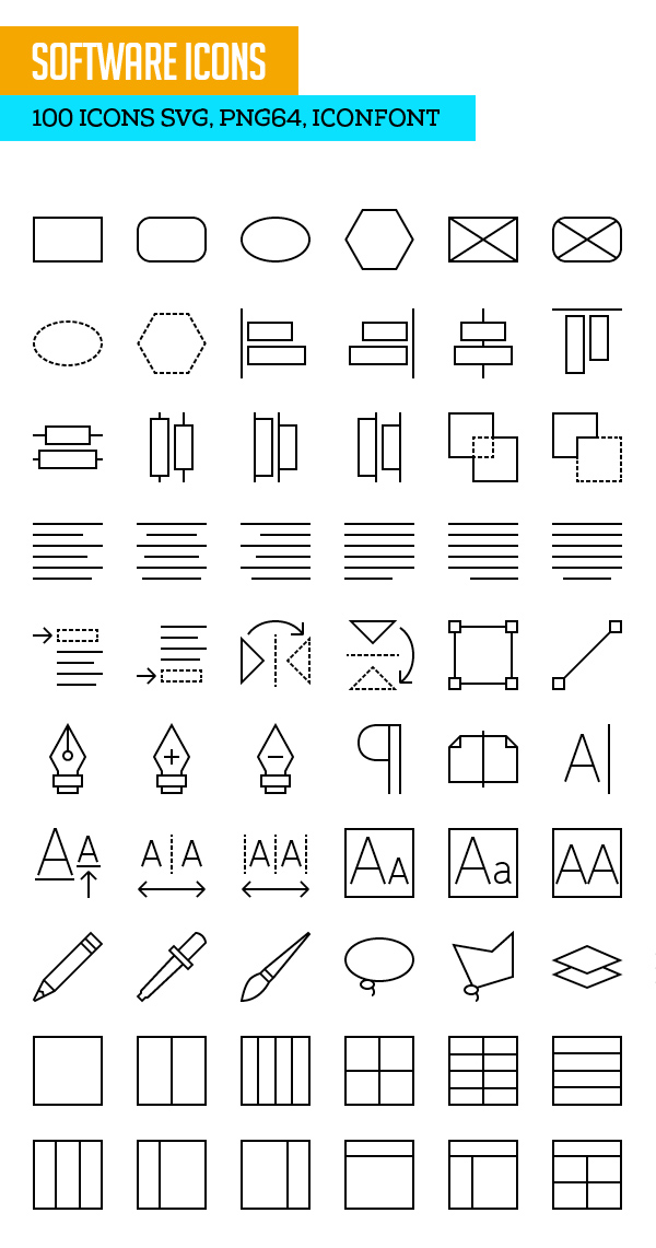 Software Icons SVG PNG Icon Font