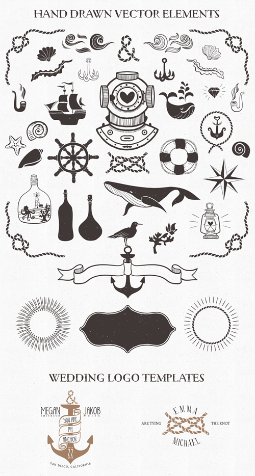Nautical Vector Pack Free (PSD, AI, EPS)