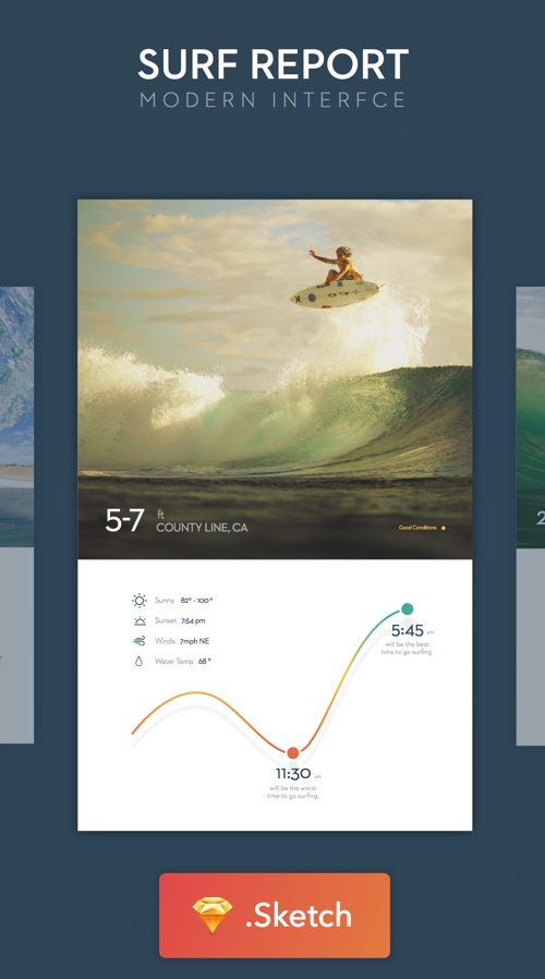 Surf UI - Sketch Freebie