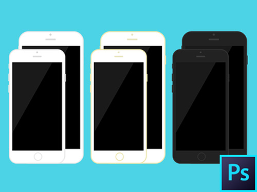Free iPhone 6 and iPhone 6 Plus Mockup Templates (PSD, AI & Sketch) - Free Download - 11