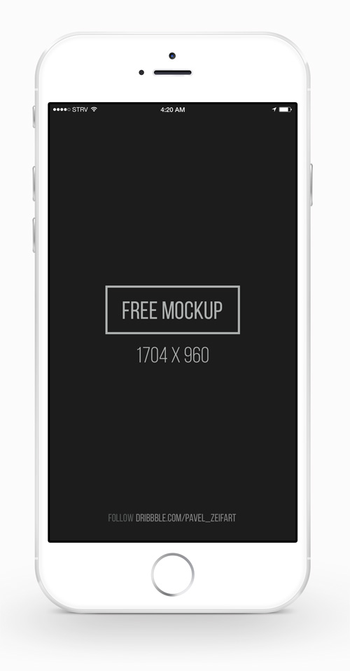 Free iPhone 6 and iPhone 6 Plus Mockup Templates (PSD, AI & Sketch) - Free Download - 28