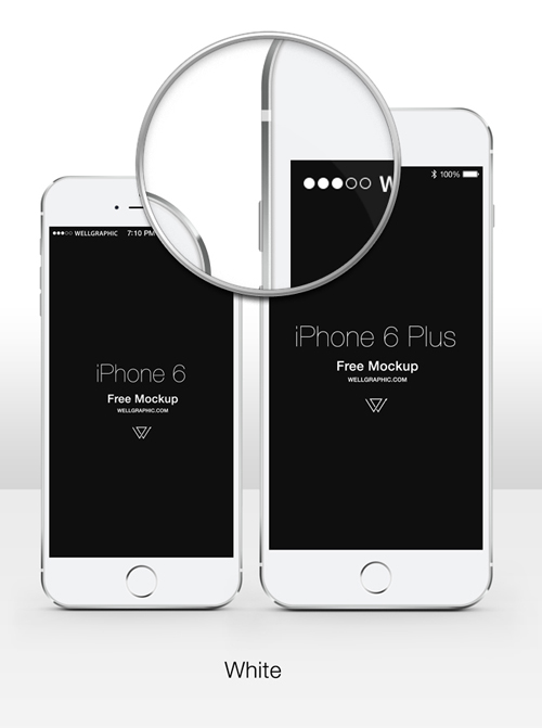 Free iPhone 6 and iPhone 6 Plus Mockup Templates (PSD, AI & Sketch) - Free Download - 30