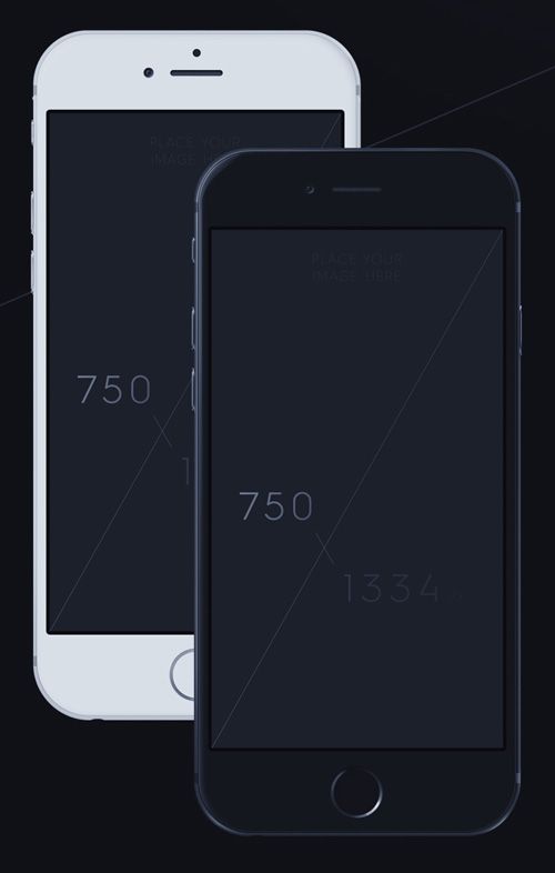 Free iPhone 6 and iPhone 6 Plus Mockup Templates (PSD, AI & Sketch) - Free Download - 36