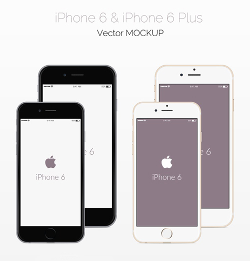 Free iPhone 6 and iPhone 6 Plus Mockup Templates (PSD, AI & Sketch) - Free Download - 4
