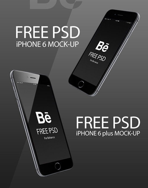Free iPhone 6 and iPhone 6 Plus Mockup Templates (PSD, AI & Sketch) - Free Download - 47