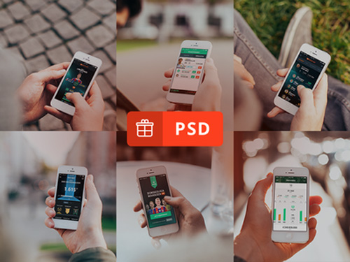 Free iPhone 6 and iPhone 6 Plus Mockup Templates (PSD, AI & Sketch) - Free Download - 6