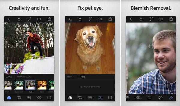 Adobe Photoshop Express iPhone App for Designers
