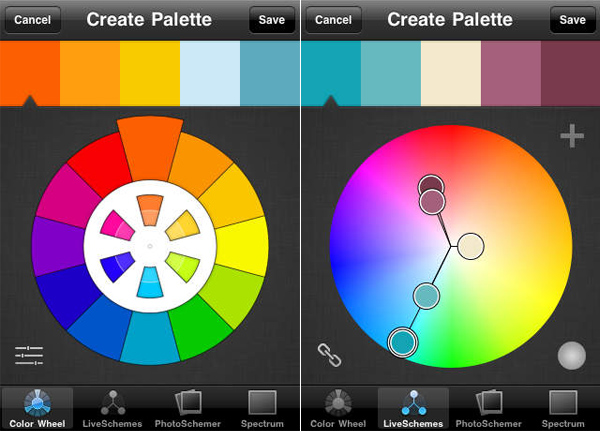 ColorSchemer iPhone App for Designers