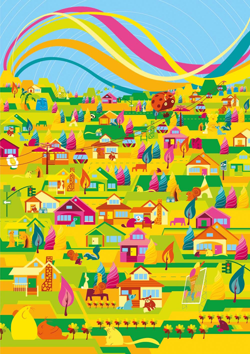 Create a Super Bright and Colourful Vector Poster in Illustrator