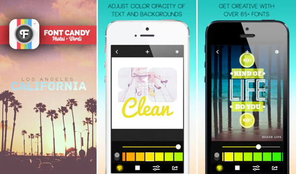 Font Candy iPhone App for Designers