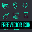 Post Thumbnail of Vector Icon Set - 100+ Icons Free Download