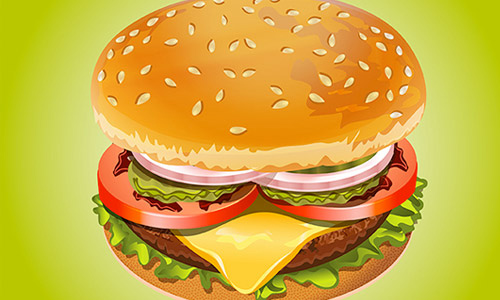 How to Create Realistic Hamburger in Adobe Illustrator Tutorial