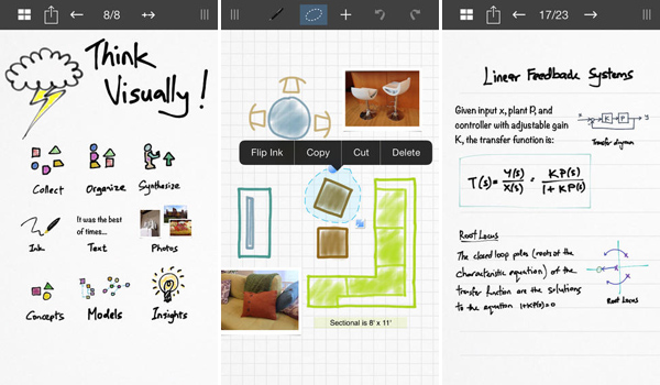 Inkflow Visual Notebook iPhone App for Designers