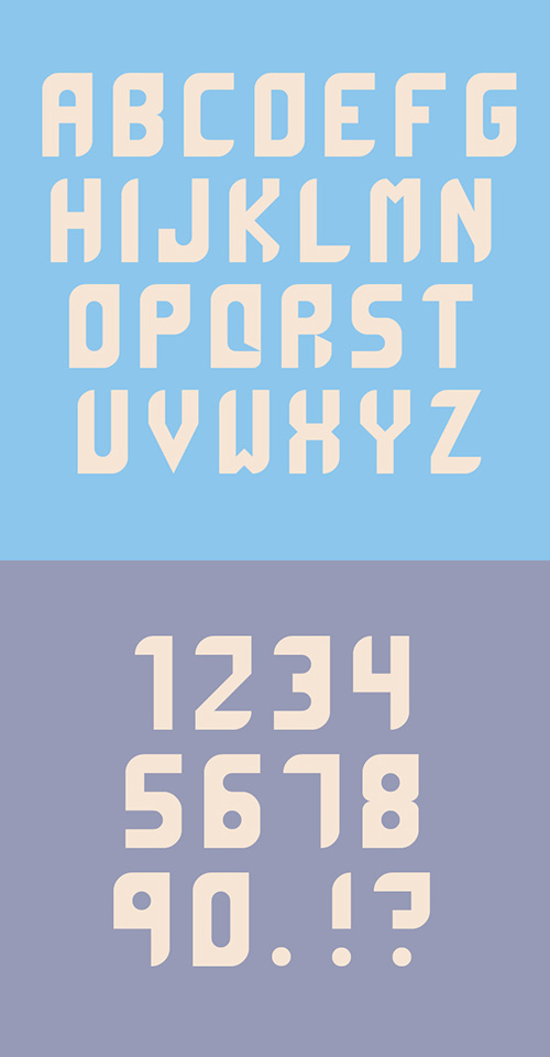 Maddac Font Letters