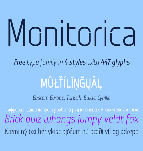Monitorica Font Free Download