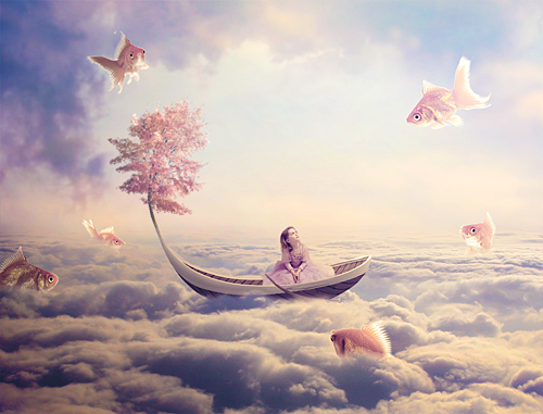 How to Create a Surreal Fish Scene with Pastel Colors in Photoshop