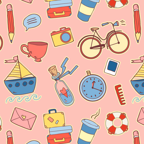 Pattern Design - 35 Seamless Vector Patterns