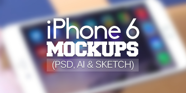Best of 2014 - 50 Free iPhone 6 and iPhone 6 Plus Mockups (PSD, AI & Sketch)