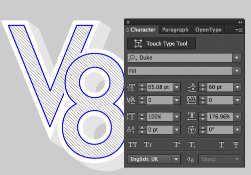 Using the looks Panel with type in illustrator