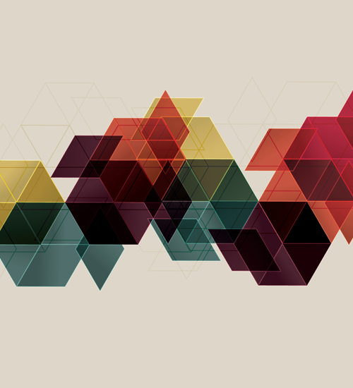 How to make a vector geometric cube abstract background