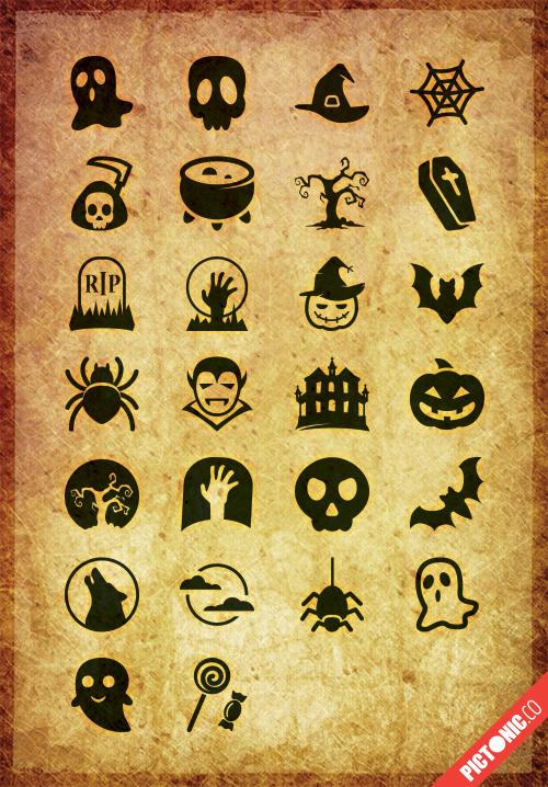 Pictonic - Font Icons: Halloween