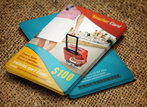 Best corporate business cards 25 designs graphics design travel gift voucher card template colourmoves