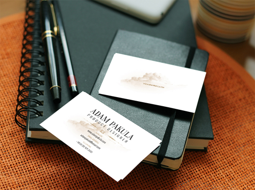 Business Card Mockup Free psd file