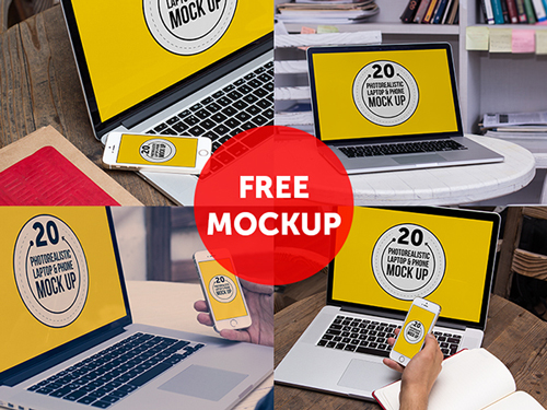 FREE Macbook And iPhone Mock Up