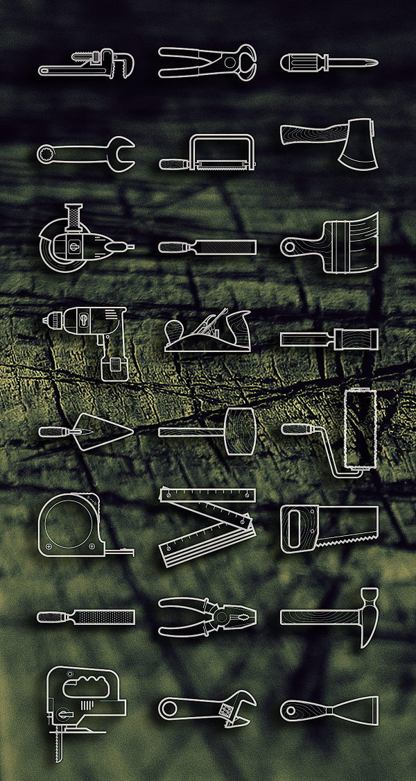 Free Tools icon set