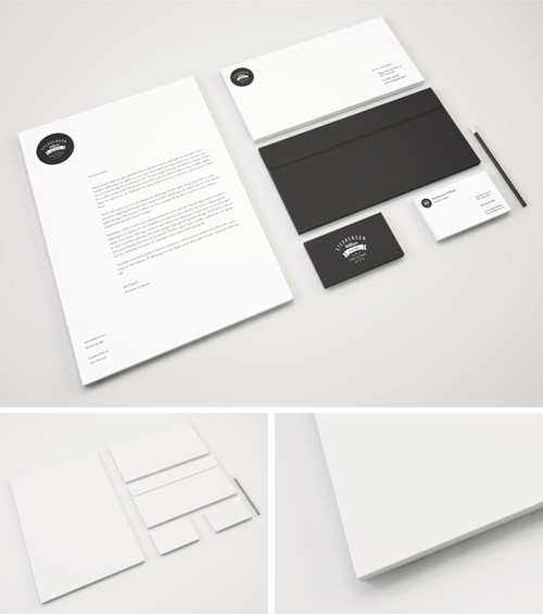 Freebie - Branding Stationery PSD Mockup