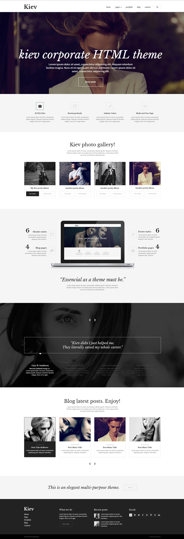 Kiev - Multipurpose HTML5 Template