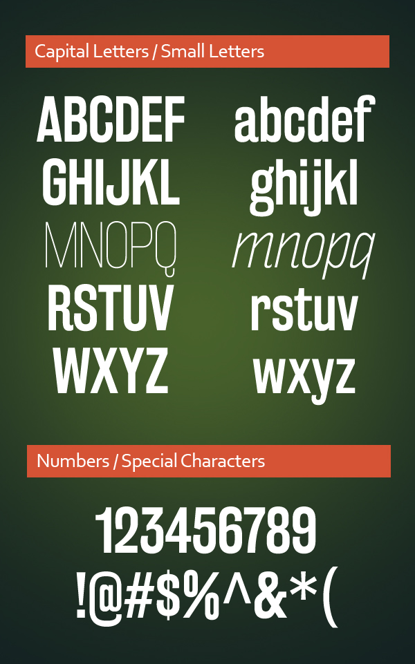 Rakesly Font Letters