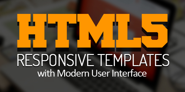 New HTML5 Responsive Templates with Modern User Interface