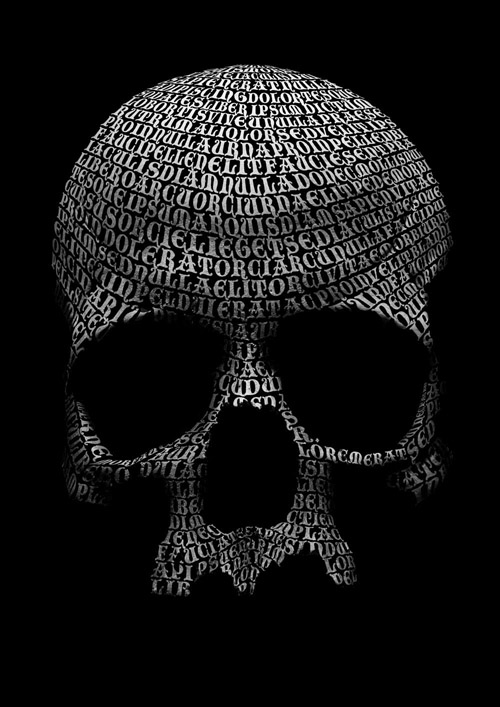 Create a Skull Out of Type in Adobe Photoshop Tutorial