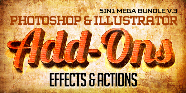 700+ Photoshop & Illustrator Add-ons (Effects & Actions)