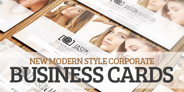 New Modern Style Corporate Business Cards