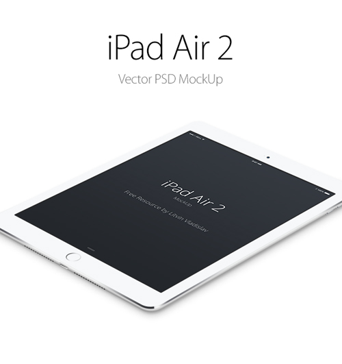 iPad Air 2 Free PSD Mockup