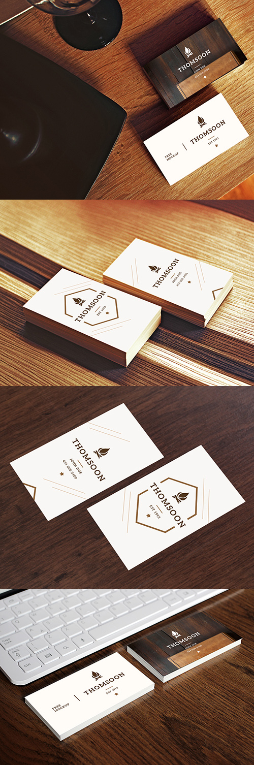 Free Business Card And Tablet Mockups