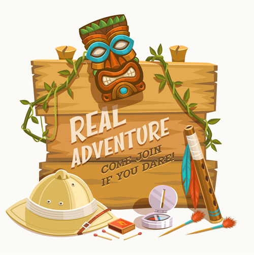 Real Adventure Bulletin Board Vector