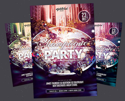 Free PSD Party Flyer Template for your club or music event.