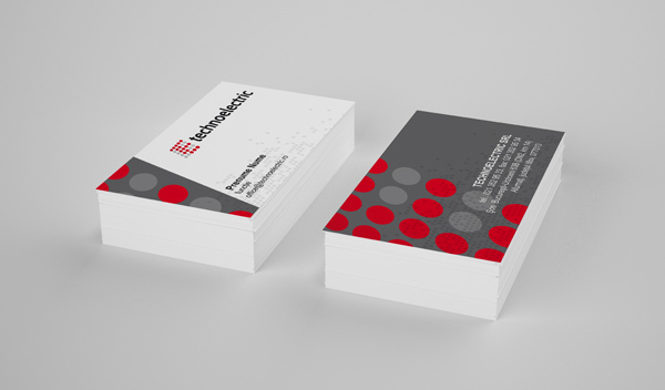 Technoelectric Corporate Identity Business Card