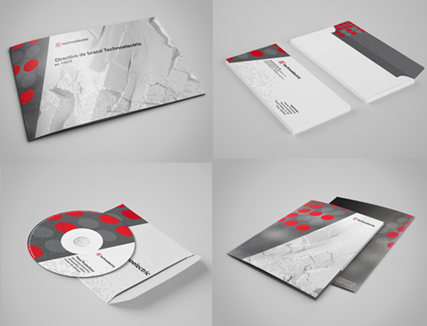 Technoelectric Corporate Identity Stationery Items
