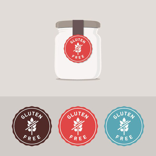 Gluten Free Label Vector Graphic